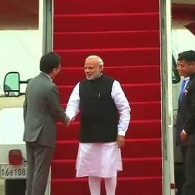 Modi arrives in South Korea