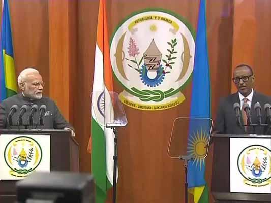 India, Rwanda sign eight agreements