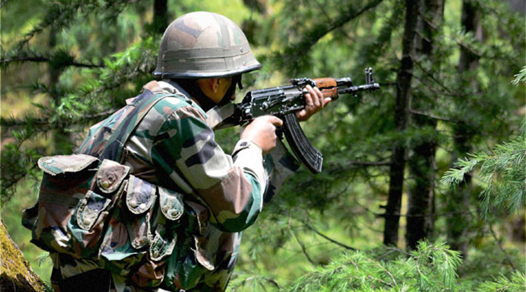 Three Army jawans, militant  killed in ongoing gunbattle in Kashmir