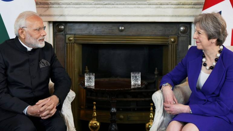 Modi,May hold talks on infusing new energy into post-Brexit bilateral ties
