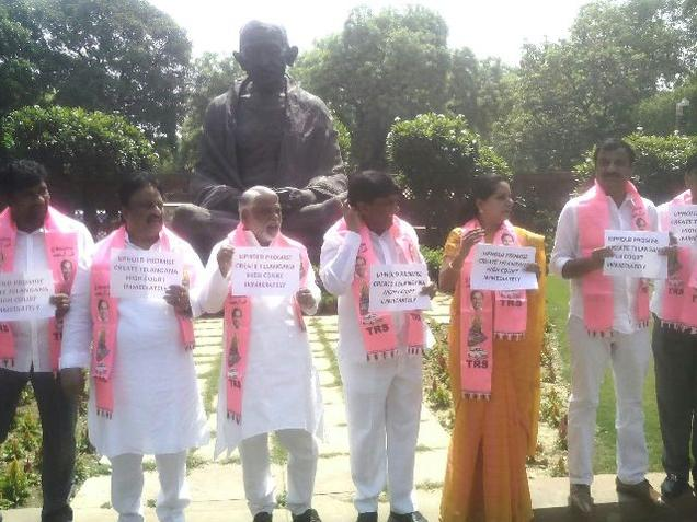 TRS protest forces adjournment in Lok Sabha
