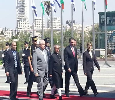 President Pranab Mukherjee addressed the Israeli Parliament, Knesset