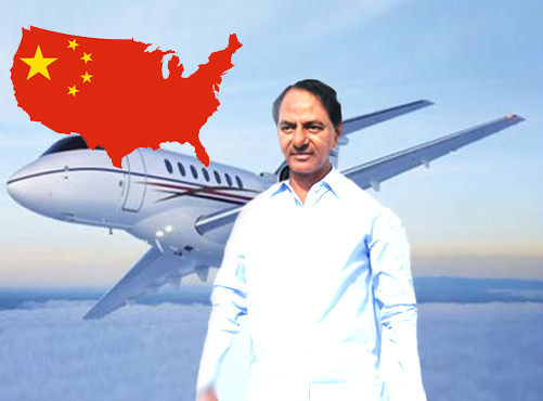 15 Ministers accompany CM KCR for China tour
