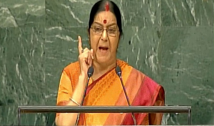Sushma Swaraj calls upon world leaders to isolate nations sheltering terrorists