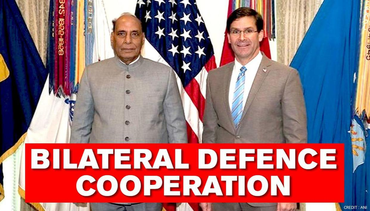 Defence Minister Rajnath Singh and US Defence Secy Mark Esper review bilateral defence co-operation between both countries