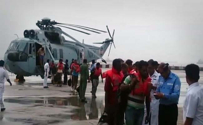 Navy helicopter rescues 20 from listing vessel off Vasai