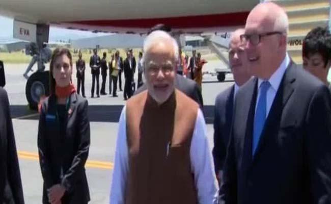 Modi arrives in  Australia
