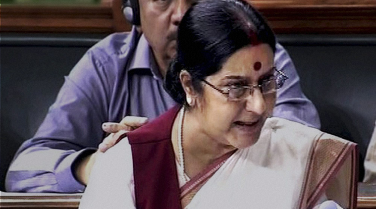 External Affairs Minister Sushma Swaraj leaves for 5-day visit to Indonesia