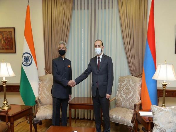 EAM Jaishankar meets his Armenian counterpart Ararat Mirzoyan