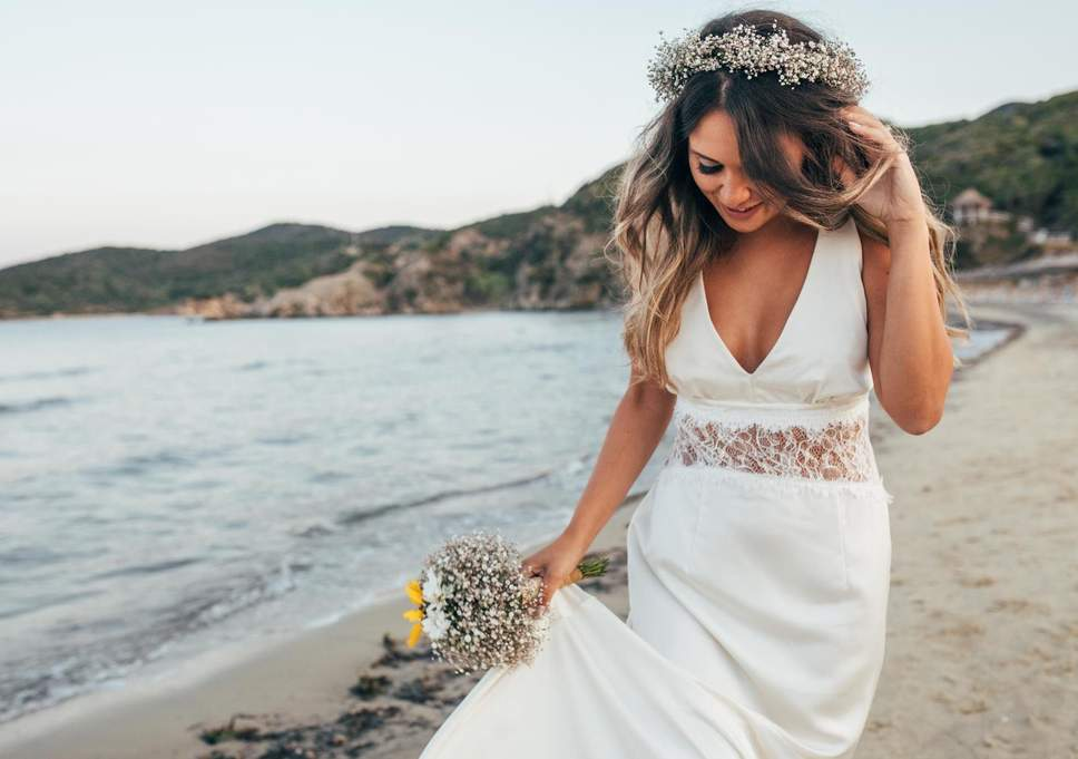 A woman married herself on the beach