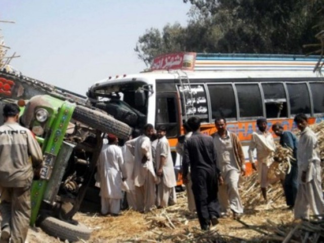 56 killed in bus accident in Pakistan