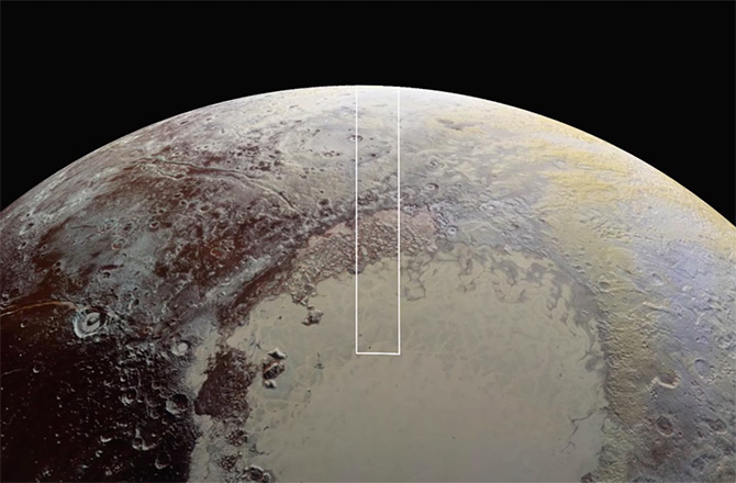 Methane snow discovered on Pluto