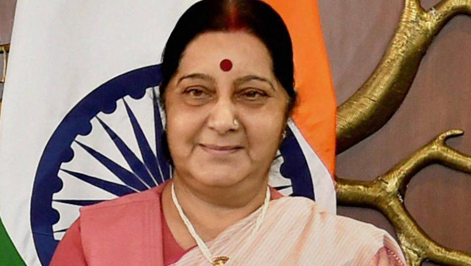 Sushma Swaraj calls on Kyrgyz President Sooronbai Jeenbekov