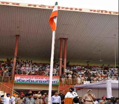 Punjab minister unfurls flag upside down, two policemen suspended