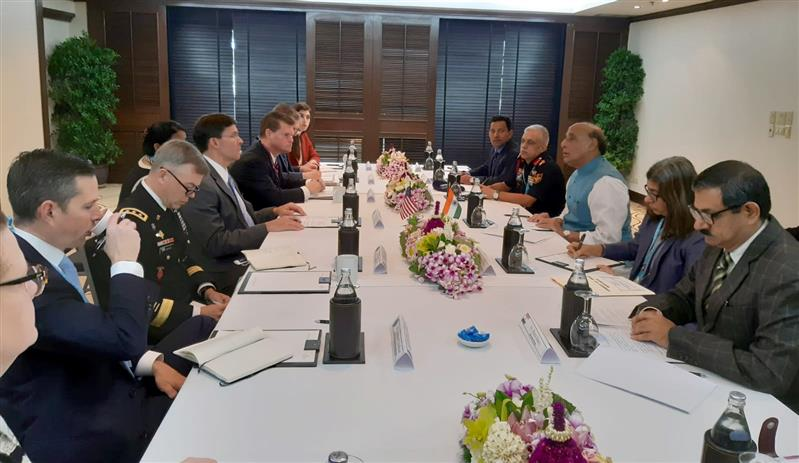 Rajnath Singh discusses wide range of issues with his US counterpart