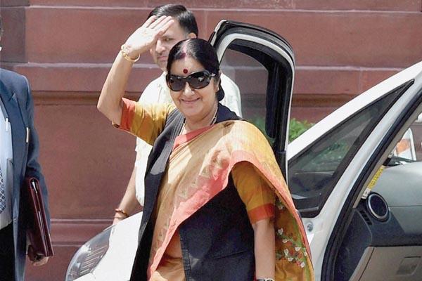 Step forward india & pakistan After Modi-Sharif Handshake Now Sushma Swaraj