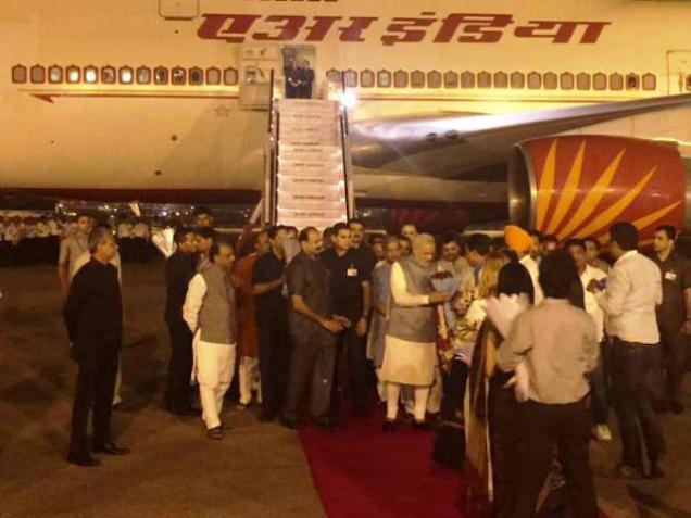 Modi returns from three nation tour