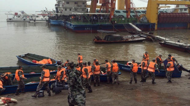 More than 450 people sinks in China