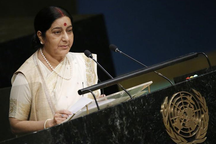 Sushma Swaraj to address UN General Assembly today