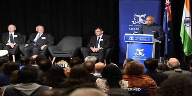 presidentkovindlaudsindiaaustraliapartnershipineducation
