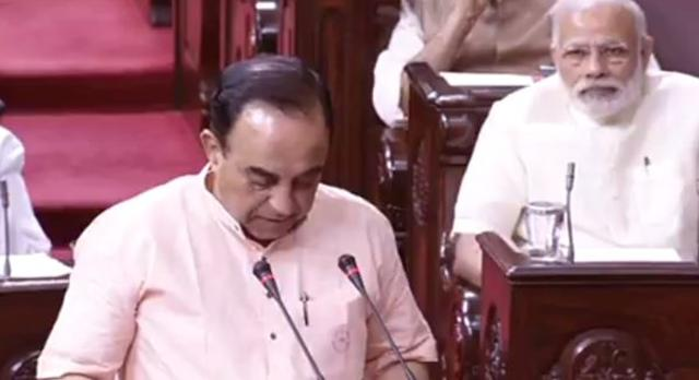Swamy again makes controversial remarks in Rajya Sabha