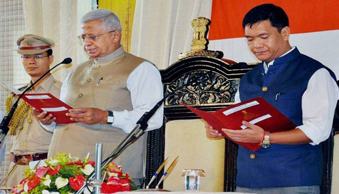 Pema Khandu takes oath as CM of Arunachal Pradesh