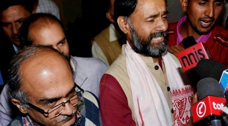 Yadav, Bhushan removed from National Executive