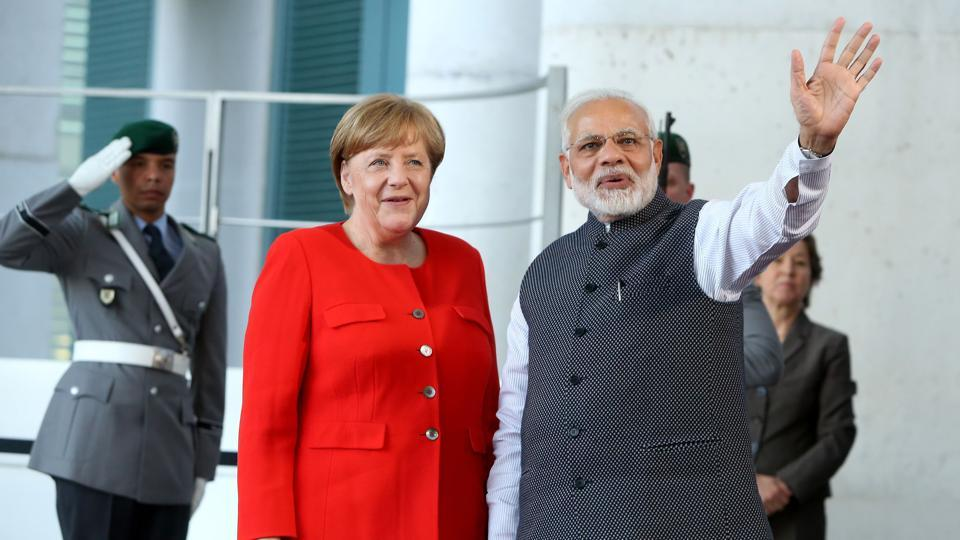 PM Modi discusses several bilateral and global issues with German Chancellor Angela Merkel