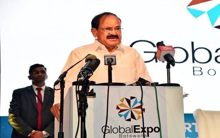 Vice President Venkaiah Naidu invites Botswana companies to invest in India