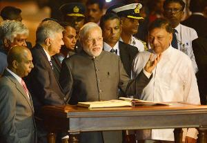 Modi arrives in Sri Lanka as final stop of his 3-nation tour
