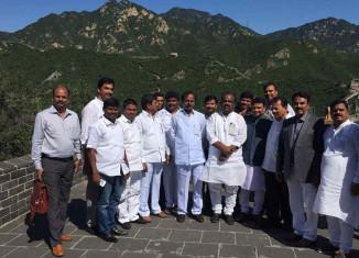 CM KCR  visits Great Wall of China