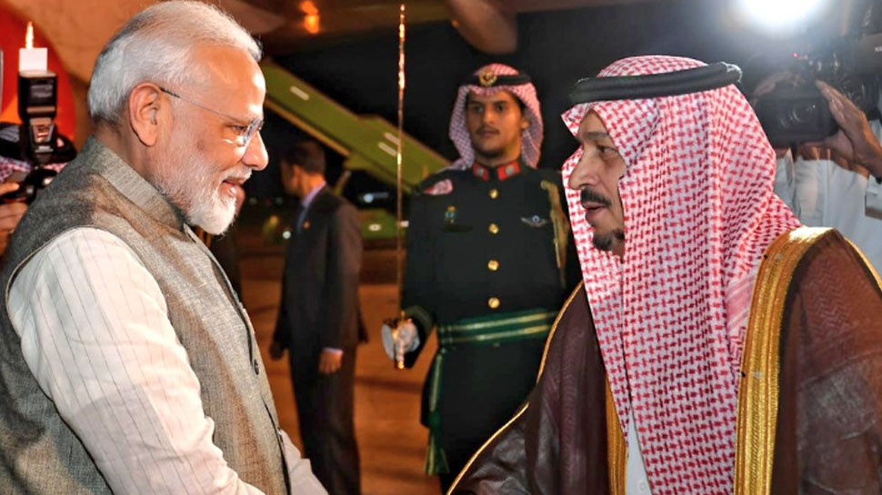 PM Modi reaches Riyadh in Saudi Arabia