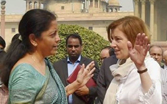 Nirmala Sitharaman holds talks with her French counterpart Florence Parly