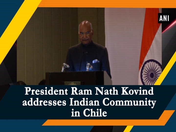 President Kovind participates in community reception at Santiago