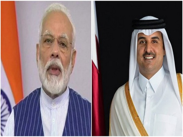 PM Modi holds conversaion with Amir of Qatar