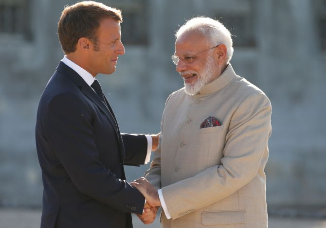 PM Modi holds talks with French President Emmanuel Macron