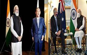 PM Modi holds bilateral meetings with his Japanese and Australian counterparts