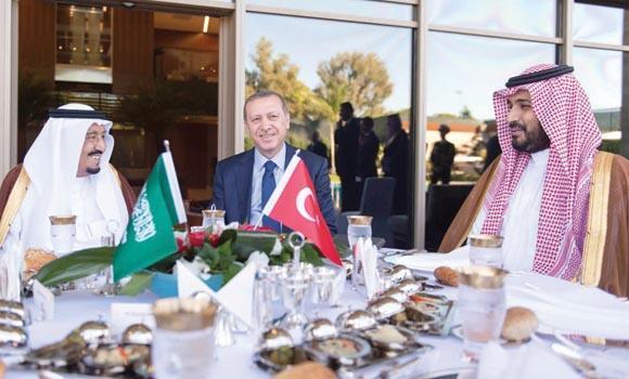 G-20: King Salman, Erdogan focus on summit's agenda