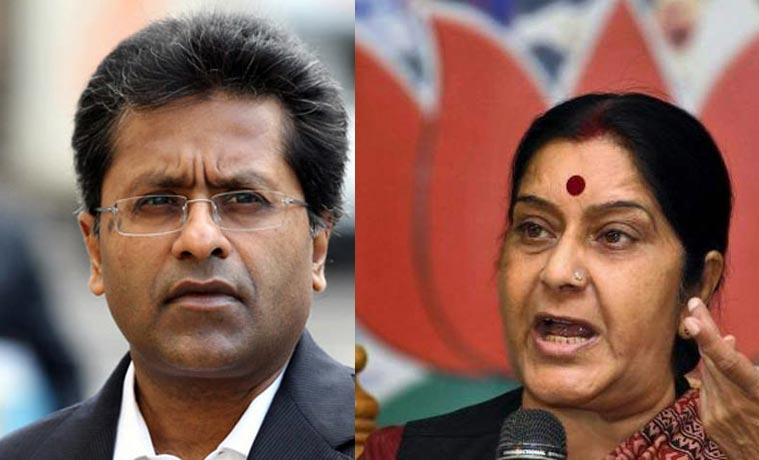 Row over Sushma Swaraj help to Lalit Modi for Travel