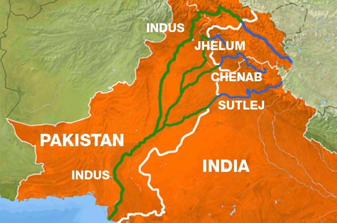 Indus commissioners of India and Pakistan reaching Jammu today to inspect Chenab river basin