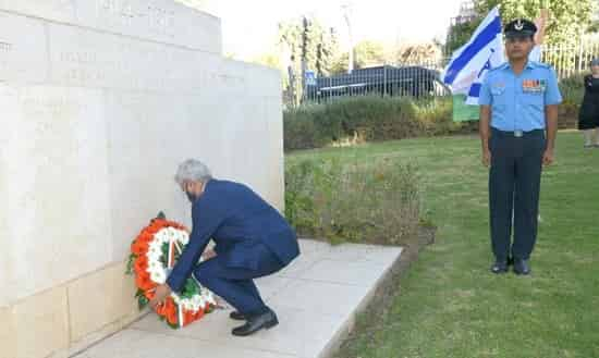 Jaishankar lays wreath at cemetery for Indian soldiers in Israel